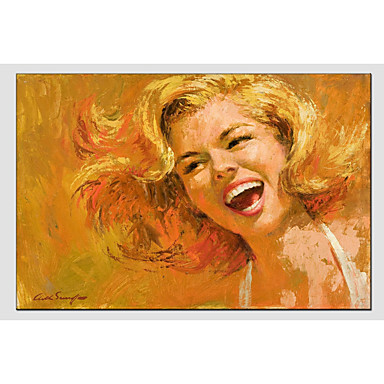 Oil Painting Hand Painted - People Classic Canvas