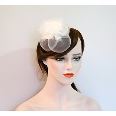 Gemstone & Crystal / Tulle / Net Fascinators / Flowers / Headpiece with Crystal / Feather 1 Wedding / Party / Evening / Event / Party Headpiece