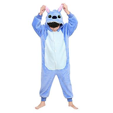 Pyžama Kigurumi Modrá Monster Monster Pyžamo Onesie Kostým Flanel Fleece Modrá Cosplay Pro Dětské Animal Sleepwear Karikatura Halloween