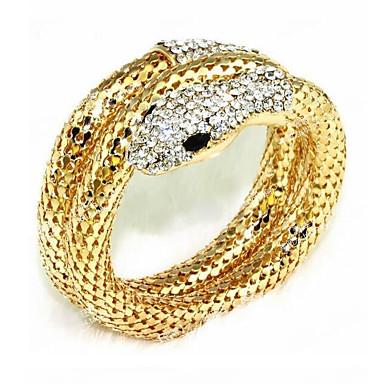 voordelige Dames Sieraden-Dames Wikkelarmbanden Slang Dames Strass Armband sieraden Goud / Zilver Voor Feest Toneel