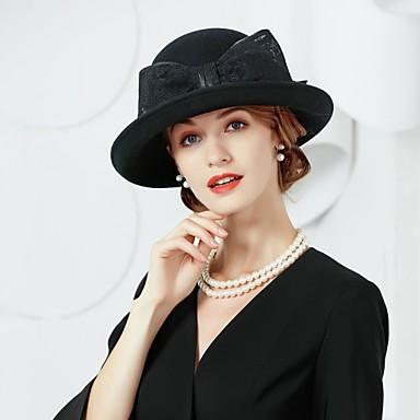 Wolle Flachs Hüte 1 Kopfschmuck Hochzeit elegante weibliche Stil