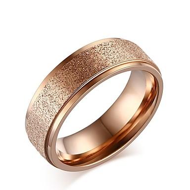 Damskie Band Ring Różowe złoto Różowe złoto Tytan Circle Shape Elegancki Słodkie Ślub Impreza Codzienny Biżuteria kostiumowa