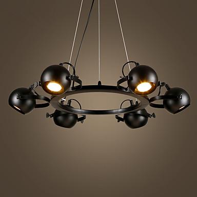 6 świateł Lampy widzące Downlight Malowane wykończenia Metal Regulowany 110-120V / 220-240V Nie zawiera żarówek / E26 / E27