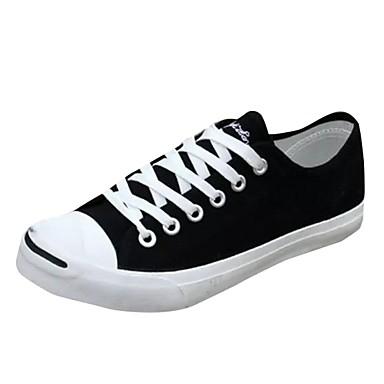 Herrn Schuhe Stoff Frühjahr, Herbst, Winter, Sommer Komfort Sneakers Schnürsenkel für Normal Weiß Schwarz Rot