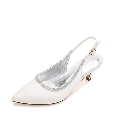 de de Basique Eté Talon 06156552 Printemps Chaussures Satin Cône Cheville Confort Heel Escarpin Bride Kitten Chaussures Femme mariage Zwt8qPYq