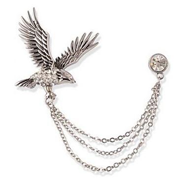Męskie Broszki Rhinestone Zwierzęta Formalna Klasyczny Imitacja diamentu Stop Silver Biżuteria Na Codzienny Formalny