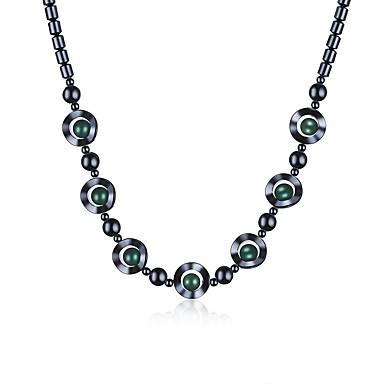 Damskie Kryształ Łańcuszki na szyję - Vintage Circle Shape Light Green Naszyjniki Na Prezent Codzienny