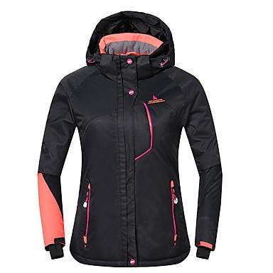Phibee Damen Skijacke Warm Wasserdicht Windundurchlässig tragbar Atmungsaktivität Anti-Statisch Skifahren Polyester