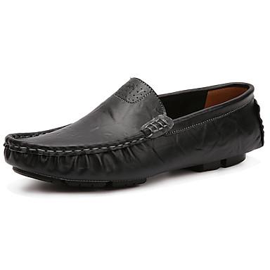 Męskie Buty PU Wiosna Jesień Comfort Mokasyny i pantofle na Na wolnym powietrzu Black Brown Niebieski