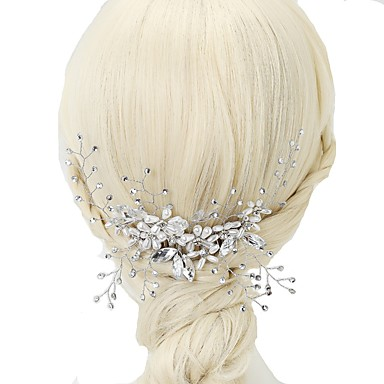 Imitacja pereł Kryształ górski Grzebienie do włosów 1szt Ślub Specjalne okazje Winieta