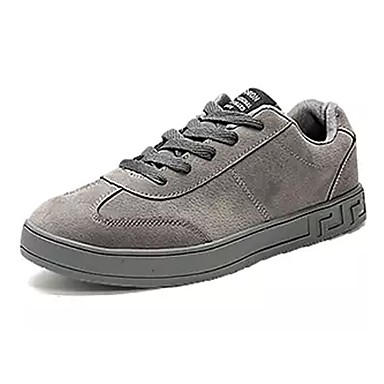 Herrn Schuhe PU Winter Komfort Sneakers Schwarz / Grau / Schwarz / weiss