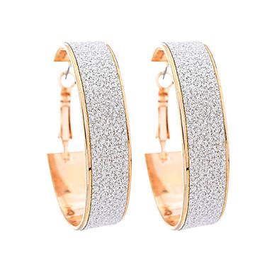 Damskie Kolczyki koła Na co dzień Modny Stop Geometric Shape Biżuteria Gold Codzienny Wyjściowe Biżuteria kostiumowa