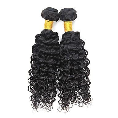2 zestawy Włosy peruwiańskie Pofalowana Włosy remy Człowieka splotów włosów Ludzkie włosy wyplata Ludzkich włosów rozszerzeniach