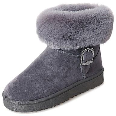 Damen Schuhe Gummi Winter Schneestiefel Stiefel Runde Zehe Schwarz / Grau / Dunkelbraun