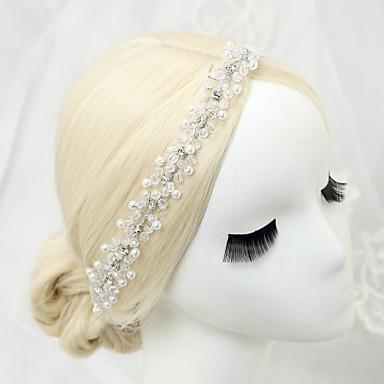 kryształowa imitacja perły rhinestone opaski 1 szt. nakrycie głowy elegancki styl