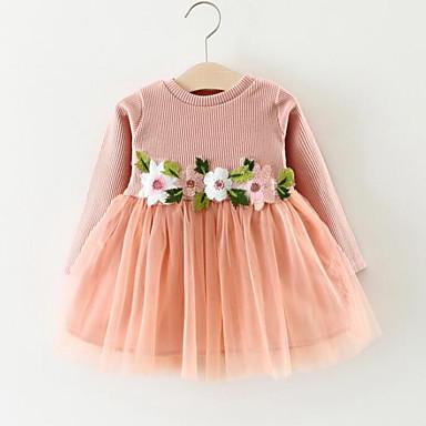 Brzdąc Dla dziewczynek Moda miejska Długi rękaw Sukienka / Księżniczka