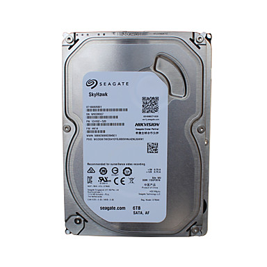 Seagate ST6000VX0003 6TB Video Surveillance Internal Hard 7200 RPM SATA 3.5-inch HDD na Bezpieczeństwo systemy 18*13 cm cm 0.7 kg kg