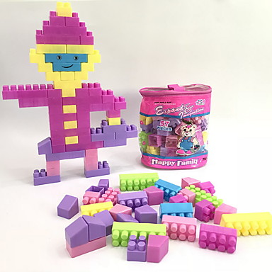 hesapli Oyuncaklar ve Oyunlar-Legolar İnşaat Seti Oyuncakları Eğitici Oyuncak 220 pcs Evler Mimari Ev uyumlu Legoing Karikatür Oyuncak Karton Dizayn Kendin-Yap Genç Erkek Genç Kız Oyuncaklar Hediye