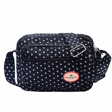Damen Taschen Oxford Tuch Schultertasche Reißverschluss für Alle Jahreszeiten Purpur Fuchsia Dunkelbraun Marinenblau Königsblau