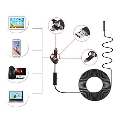 8mm obiektyw 1 m twardy kabel 3 w 1 android endoskop inspekcja kamery usb borescope ip67 wodoodporna wąż cam dla pc windows