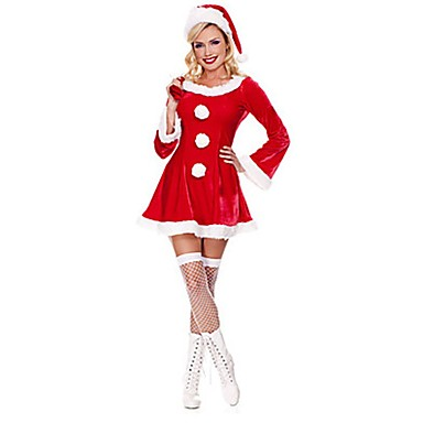 4ac57b16974 Santa Claus Mrs.Claus Costume Women's Christmas Festival / Holiday ...