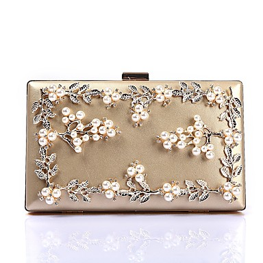 7ca6befcb2458 Women s Bags Polyester Evening Bag Crystals   Pearls   Flower Black   Red    Blushing Pink