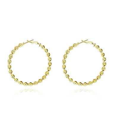 Damskie Hipoalergiczny Pozłacane Kolczyki koła - Vintage Hipoalergiczny Modny Słodkie Gold Circle Shape Kolczyki Na Codzienny Party