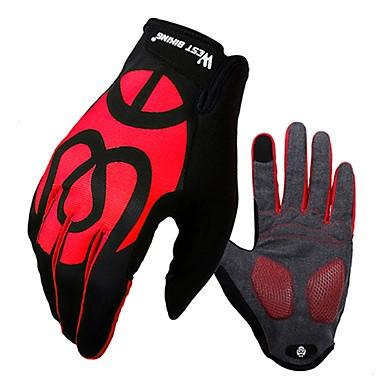 WEST BIKING® Rękawiczki sportowe Rękawiczki dotykowe Rękawiczki rowerowe Wiatroodporna Skidproof Full Finger Rękawiczki do ekranów