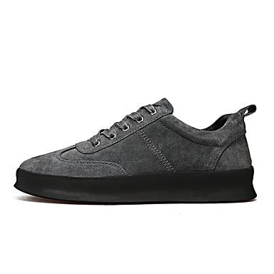 Herren Schuhe Schweineleder Winter Herbst Komfort Leuchtende Sohlen Sneakers Für Normal Schwarz Grau Khaki
