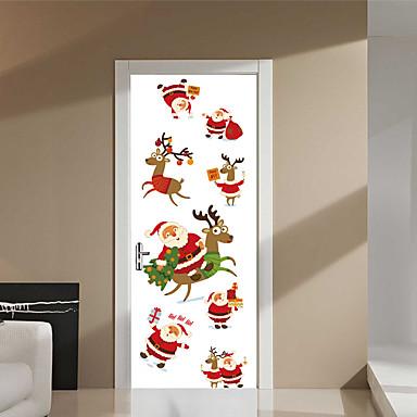 Boże Narodzenie 3D Naklejki Naklejki ścienne 3D Dekoracyjne naklejki ścienne,Winyl Dekoracja domowa Naklejka For Ściana