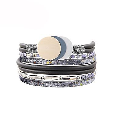 Damskie Bransoletki Wrap Modny Skórzany Nieregularny Biżuteria Prezent Codzienny Biżuteria kostiumowa