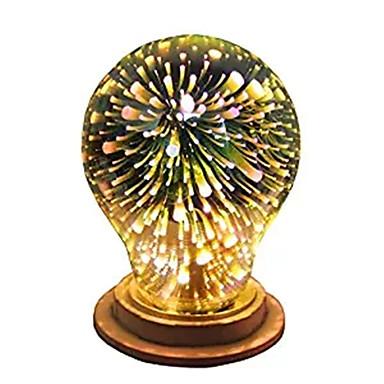 halpa LED-pallolamput-1kpl 4 W LED-pallolamput 350 lm E26 / E27 A60(A19) 28 LED-helmet Integroitu LED Koristeltu Tähtikirkas 3D ilotulitus Multi-värit 85-265 V / RoHs