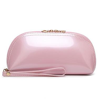 Damen Taschen Lackleder Unterarmtasche Reißverschluss für Alle Jahreszeiten Orange Rote Rosa Purpur Fuchsia