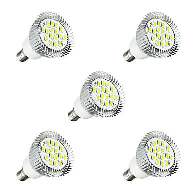 5szt 3 W 260-300 lm E14 Żarówki punktowe LED E14 / E12 16 Koraliki LED SMD 5630 Dioda LED Ciepła biel / Biały 220-240 V