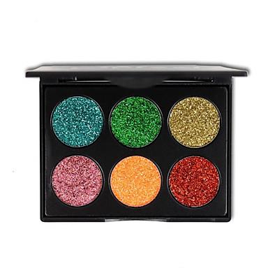 6 kolorów brokatowy cień do powiek makijaż złoty cebula w proszku cekinowe kosmetyki eyeshadow