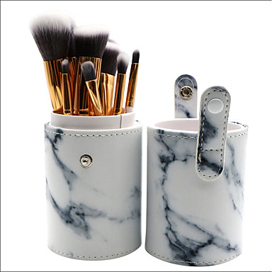 10 szt. Pędzle do makijażu Profesjonalny Zestawy Brush Włosie synetyczne Pełne pokrycie Plastik