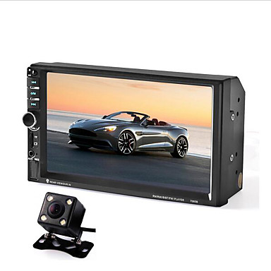 7060B 7 inch Car Audio Stereo MP5 Player Car DVD Player Remote Control with Rearview Camera #06377917