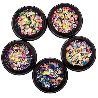 1 Metaliczny Kryształ Elegancki Modny Słodkie Biżuteria do paznokci Wysoka jakość Nail Art Design Codzienny