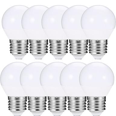 EXUP® 10pcs 4W 400lm E27 Żarówki LED kulki A15 10 Koraliki LED SMD 5730 LED Light Ciepła biel Zimna biel 85-265V