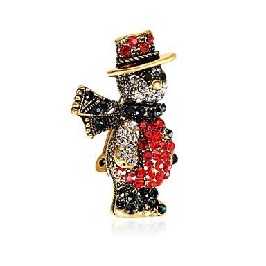 Męskie Damskie Broszki Prezent Cyrkon Pozłacane Stop Assorted Color Biżuteria Na Święta Bożego Narodzenia Sylwester / Nowy Rok
