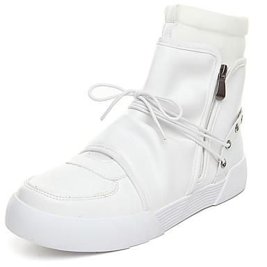 Męskie PU Wiosna / Jesień Wygoda / Modne obuwie Botki Biały / Czarny