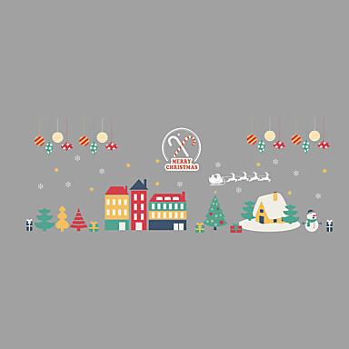 Zwierzę Święta Bożego Narodzenia Naklejka okienna, PVC Materiał Dekoracja okna Salon