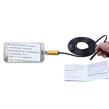 2 w 1 kamera usb endoskop złota 7mm obiektyw 2m kabel ip67 wodoodporna inspekcja borescope dla systemu Windows Android wąż cam