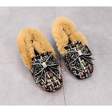 Mädchen Schuhe Pelz Winter Herbst Komfort Loafers & Slip-Ons für Normal Schwarz Kaffee Dunkelbraun