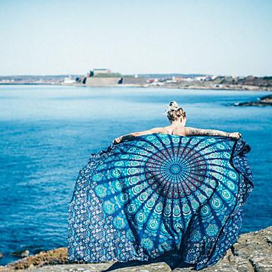 billige Håndklær og morgenkåper-Overlegen kvalitet Strandhåndkle, Maleri Polyester / Bomull Baderom