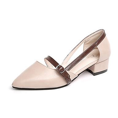 Mujer Zapatos Tela de Poliamida / Tergal Primavera / Verano Confort Bailarinas Tacón Plano Dedo Puntiagudo Rojo sX6NK
