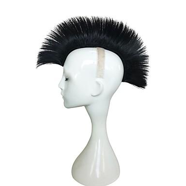 Peruki syntetyczne Kinky Straight Fryzura asymetryczna Włosy syntetyczne Naturalna linia włosów Czarny Peruka Damskie Długo cosplay