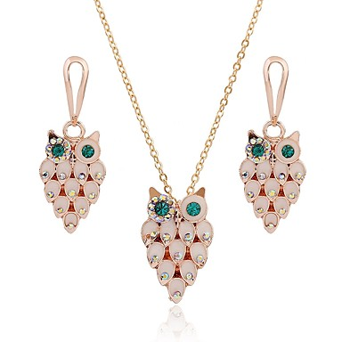 a51cfd151 Women's Opal Jewelry Set Opal, Imitation Diamond Owl Classic, Fashion  Include Drop Earrings Necklace Gold For Daily