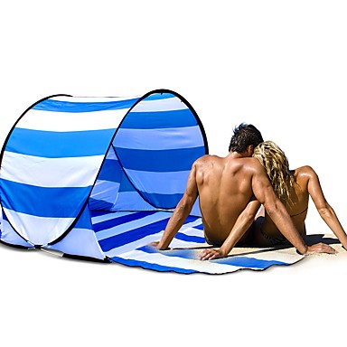 HUILINGYANG 2 osoby Baldachýn Plážový stan Stan se síťovinou Pojedynczy Namiot kempingowy Na wolnym powietrzu Automatyczny namiot