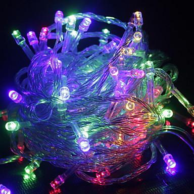 10 tuumaa Koristevalot 100 LEDit Lämmin valkoinen / RGB / Valkoinen